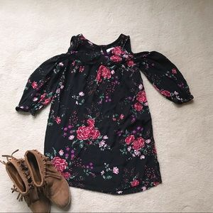Old Navy Girls Cold Shoulder Floral Dress